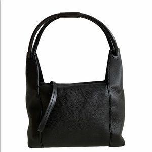 Gucci leather black handbag short handle